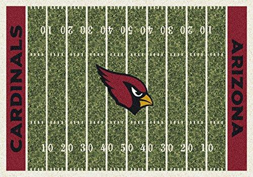 Arizona Cardinals Rug - Arizona Cardinals NFL Team Home Field Area Rug by Milliken, 3'10