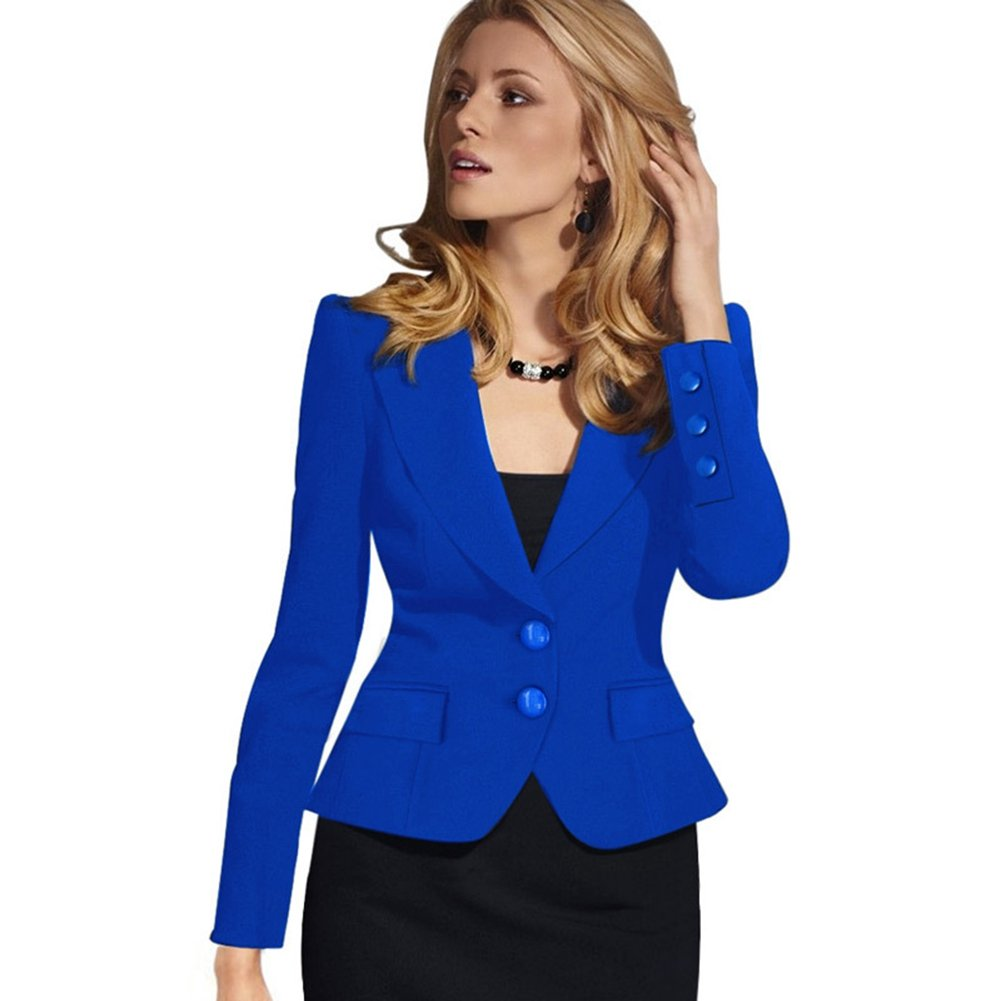 Value Buy Go Go Go Womens Fashion Long Sleeve Slim Fitted Ladies Office Blazer Suit Jacket