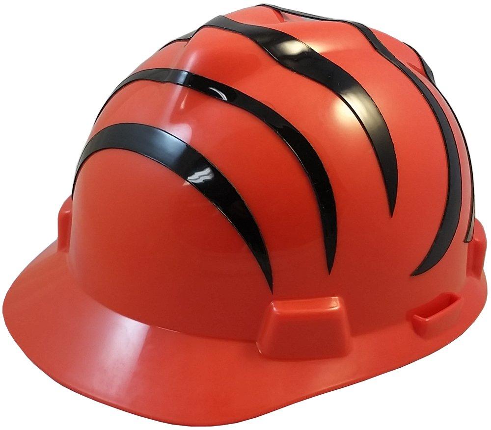 MSA NFL Ratchet Suspension Hardhats - Cincinnati Bengals Hard Hats