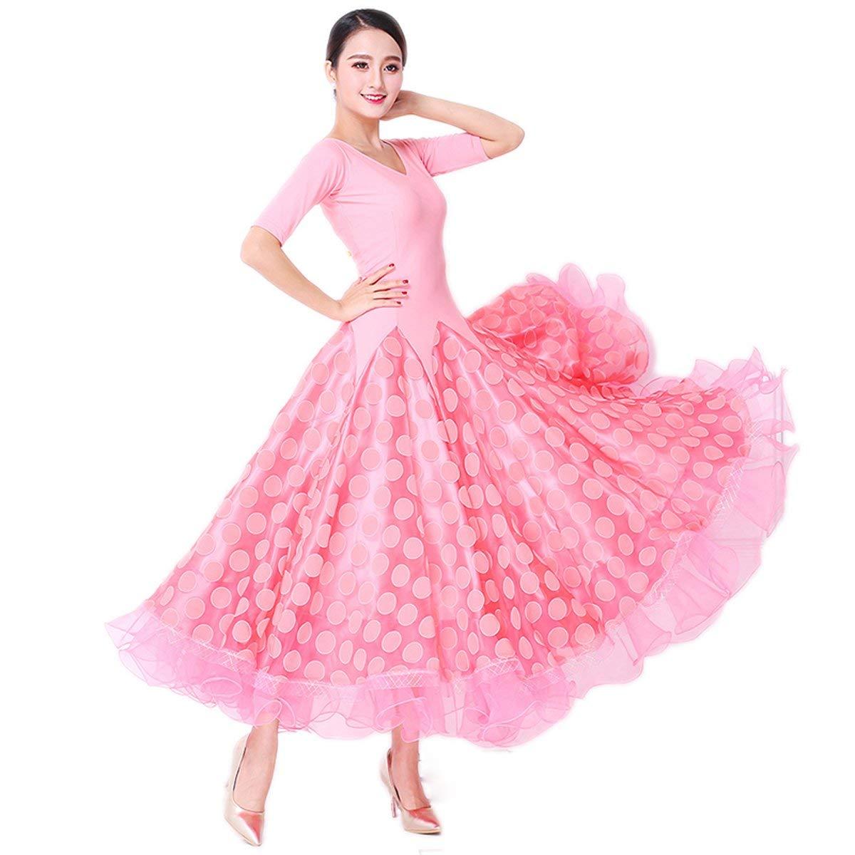 【安心発送】 garuda B07P7PJXL6 レディース社交ダンス衣装 ダンス高級ダンスドレス 競技ワンピース サイズオーダー対応 ピンク ピンク B07P7PJXL6 ピンク,Small ピンク,Small, ファイン パーツ ジャパン:f03af5e6 --- a0267596.xsph.ru