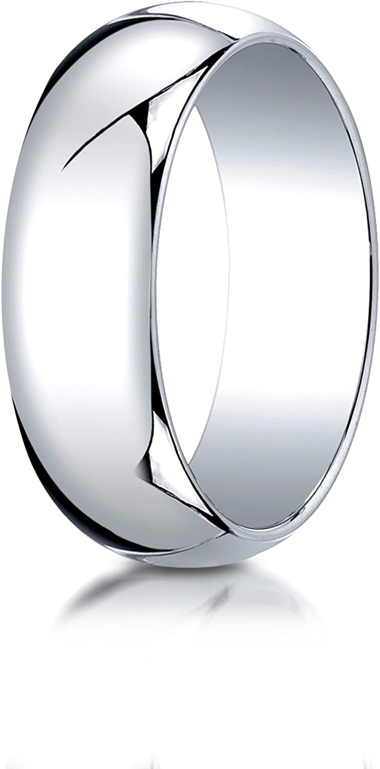 18K White Gold 3mm Slightly Domed Traditional Oval Wedding Band Ring for Men /& Women Size 4 to 15
