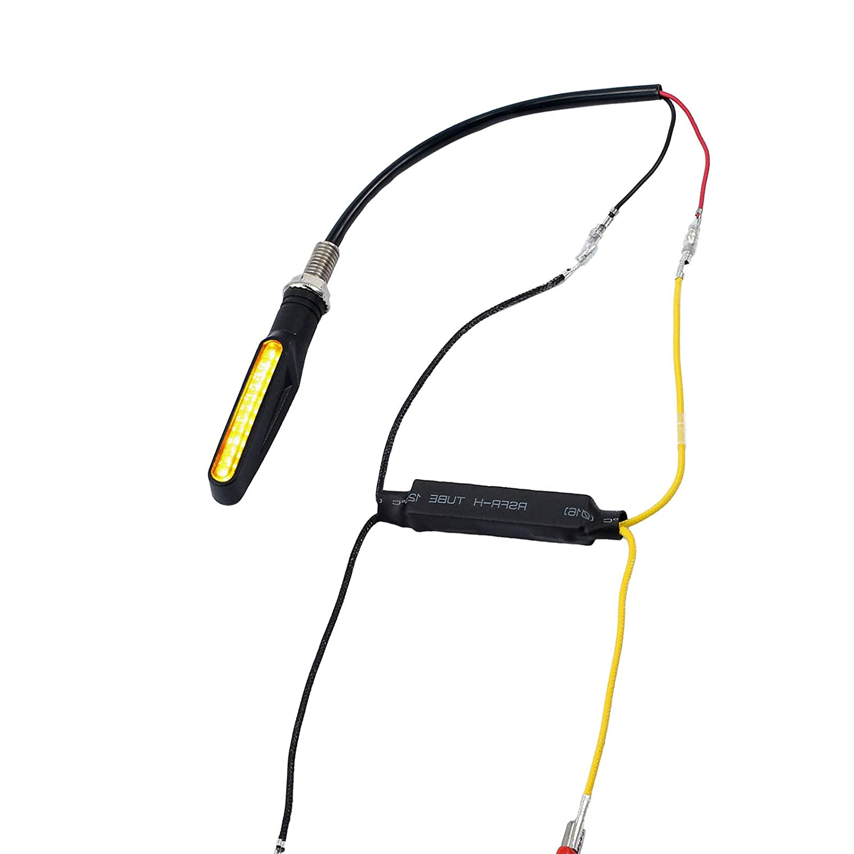 ENET 4 Pcs 21W 26/¦/¸ DC 12V Motorcycle LED Turn Signal Indicator Load Resistor Cornering Decompiler