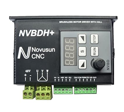 Sunwin CNC 24 - 60 V 400 W DC Brushless Spindle Motor Driver Kit with Hall LCD Panel nvbdh +: Amazon.es: Bricolaje y herramientas