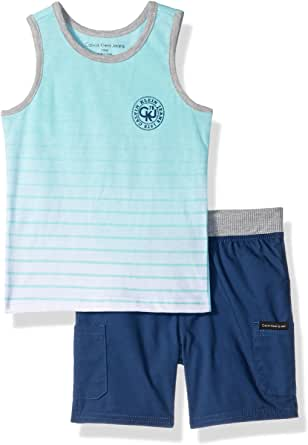Calvin Klein Baby Boys 2 Pieces Tank Top Short Set