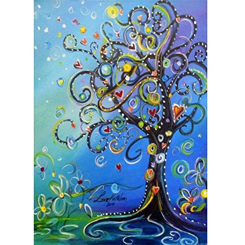 MXJSUA DIY 5D Diamond Painting by Number Kits Full Drill Rhinestone Embroidery Cross Stitch Pictures Arts Craft for Home Wall Decor,Money Tree -