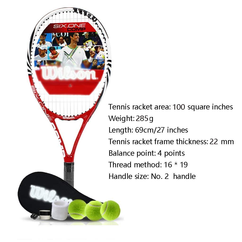 Raquetas De Tenis For Adultos Principiantes Set Aluminio De Carbono Ligero Traje De Entrenamiento For Ni/ños Hombres Y Mujeres