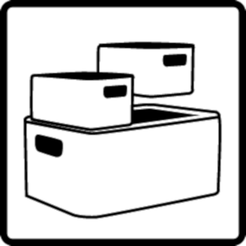 Volumen Aprox Aprox Rotho Dekobox Caja para Guardar Country 28/L Formato A4/+ PP Aspecto de rat/án de pl/ástico 43/x 33/x 21,5/cm.