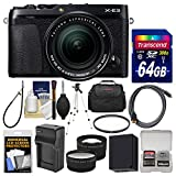 Fujifilm X-E3 4K Digital Camera & 18-55mm XF Lens (Black) with 64GB Card + Case + Battery & Charger + Tripod + Filter + Tele/Wide Lens Kit Review