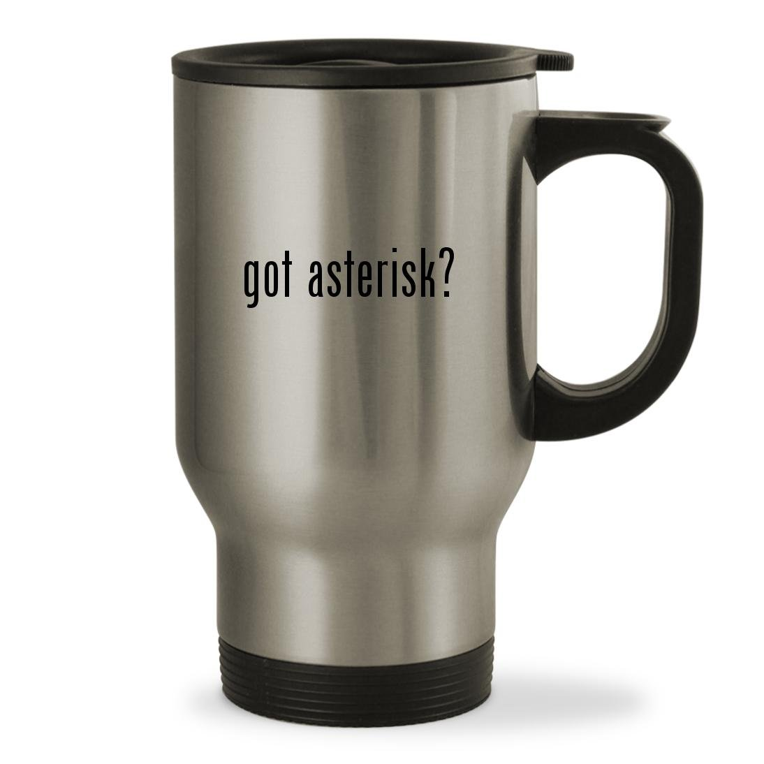 got asterisk? - 14oz Sturdy Stainless Steel Travel Mug, Silver