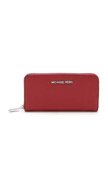 d8c96725a012 MICHAEL Michael Kors Women's Jet Set Travel ZA Continental Wallet, Scarlet,  One Size
