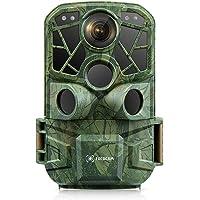 Cococam 4K 24MP Cámara de Rastreo de Caza WiFi Bluetooth Cámara para Vida Silvestre Visión Nocturna 3 Sensore PIR Cámara…
