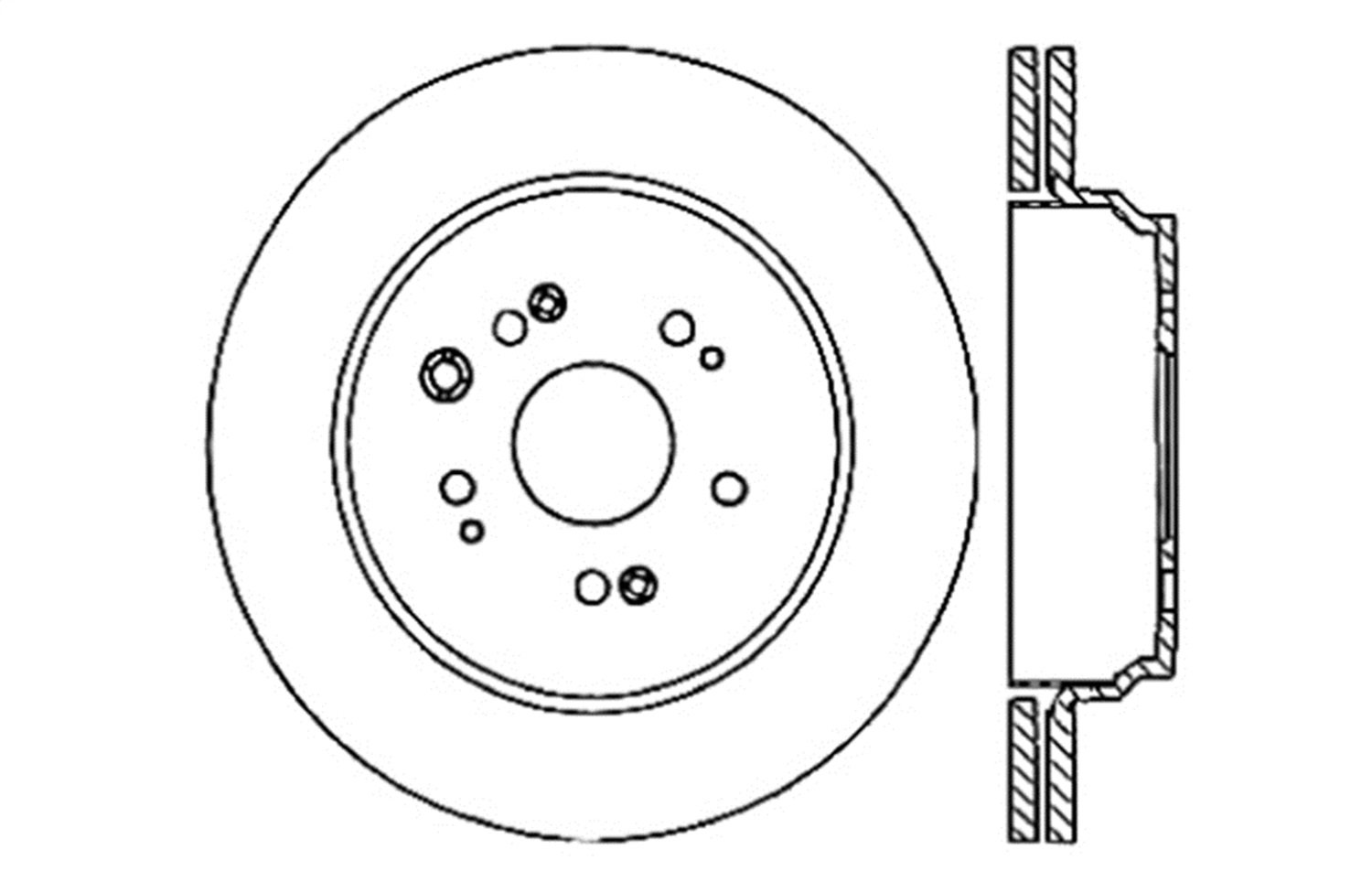 Left StopTech 128.40067CL Sportstop Cryo Drilled Rotor