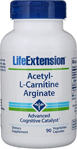 Life Extension Acetyl-l-Carnitine Arginate Veggie Caps, 60 Count
