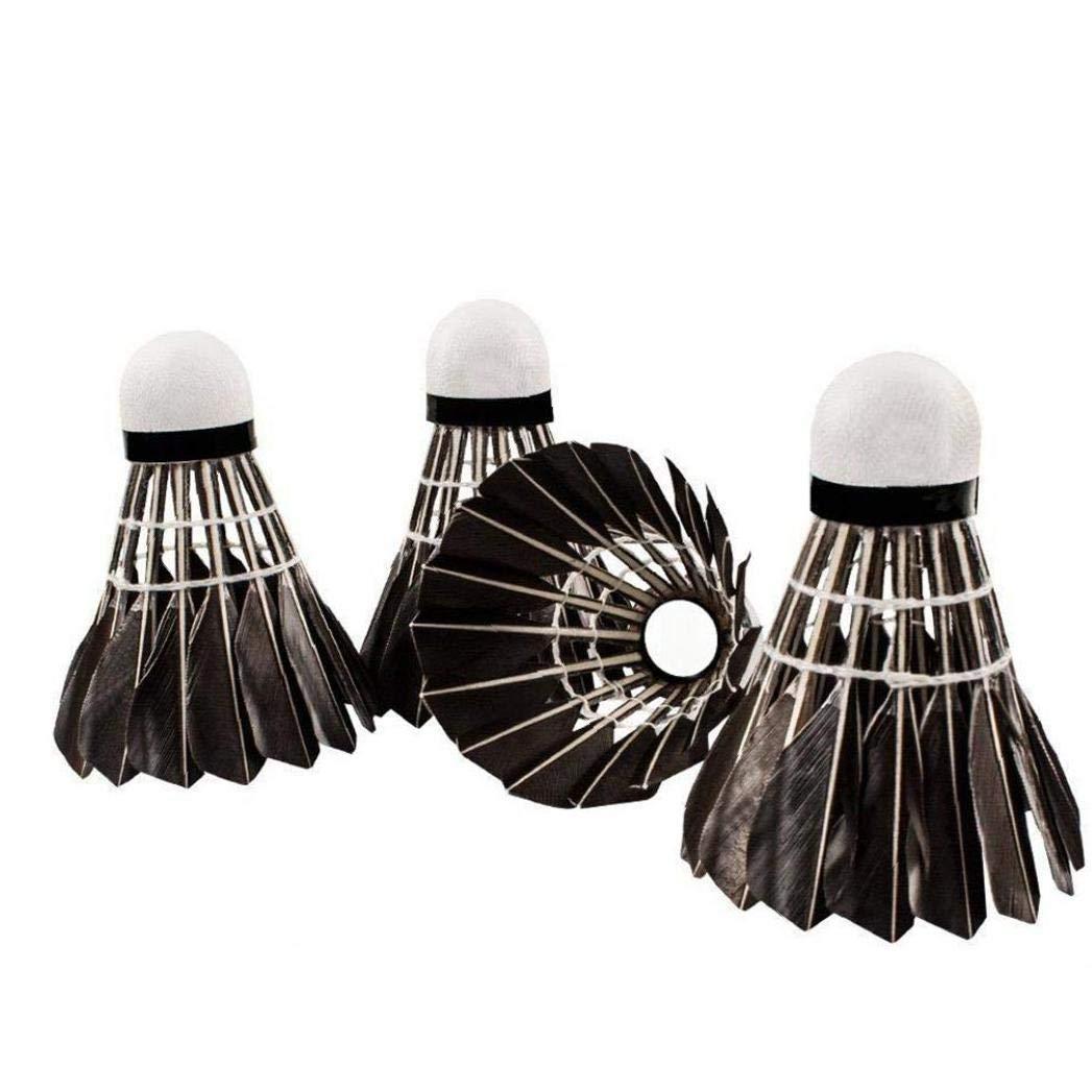 Ruijanjy 1pack De 2 Set Avanc/ée De Plumes doie Badminton Stable /à Haute Vitesse Volants Durable Badminton Birdies Balles Noir