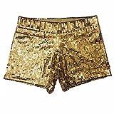 Sexy Lady Dancing Hip Hop Bling Sequins Paillette Shorts Short Pants