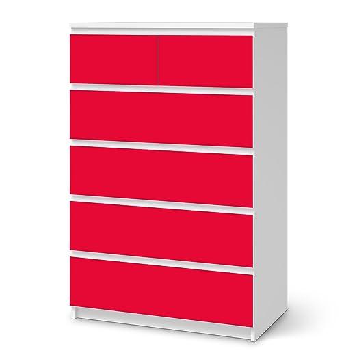 creatisto Klebefolie für Ikea Malm 6 Schubladen (Hoch) | Muster Möbel-Folie  Sticker Möbelfolie Selbstklebend | Einrichtung aufpeppen Raumgestaltung |  ...