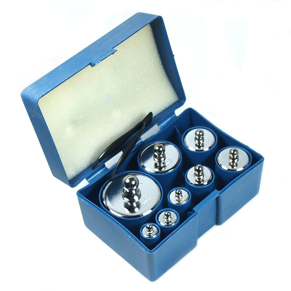 8 Pcs 1000g 1kg Calibration Weight Set with Free Hb-02 500g X 0.1g Digital Scale by Science Lab Weights (Image #2)