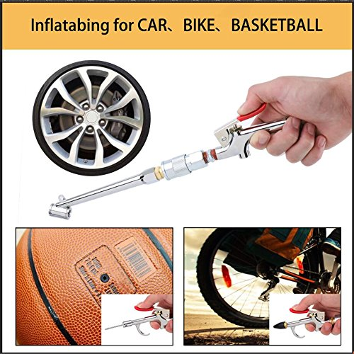 20Pcs Air Compressor Accessory Kit Tire Pressure Pen with Inflatable Rod Kit for Blow Dust Blow Gun Test Tire and Inflating for Car//Bike//Ball Drillpro Pueumatic Air Fittings Tools 1//4 NPT Plugs