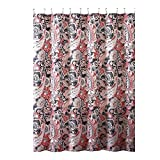 Pink and Gray Fabric Shower Curtain Elegant Gray Pink Taupe Fabric Shower Curtain: Large Floral Paisley Print Design, 72