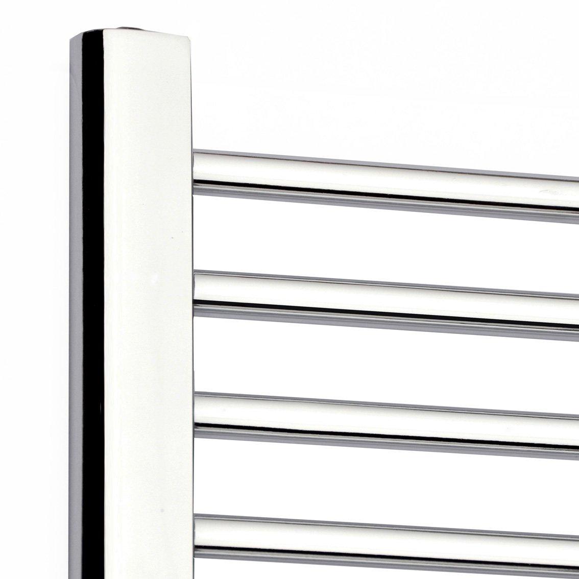Natasha ladder rail straight modern electric towel radiator in chrome - Ibathuk 1000 X 500 Thermostatic Electric Heated Towel Rail Bathroom Radiator Re52 Ibathuk Amazon Co Uk Diy Tools