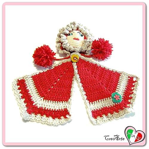 Rot Häkeln Puppe Topflappen Aus Baumwolle Und Acryl Größe 17 Cm X