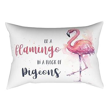 30 x 50 cm suave funda de almohada decorativo de flamenco ...