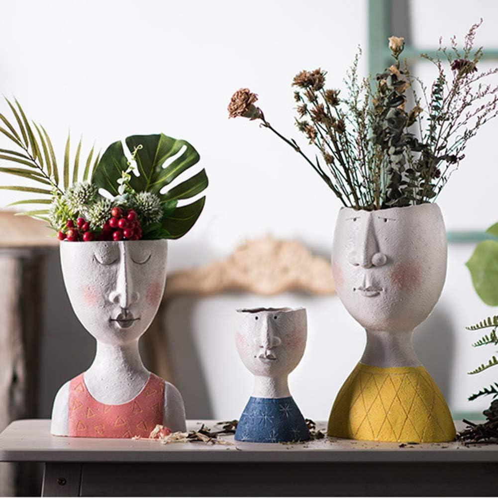 Infilm Verde decorazione da giardino vaso da fiori in resina per interni ed esterni Resina 17.8x9x9.2cm design creativo