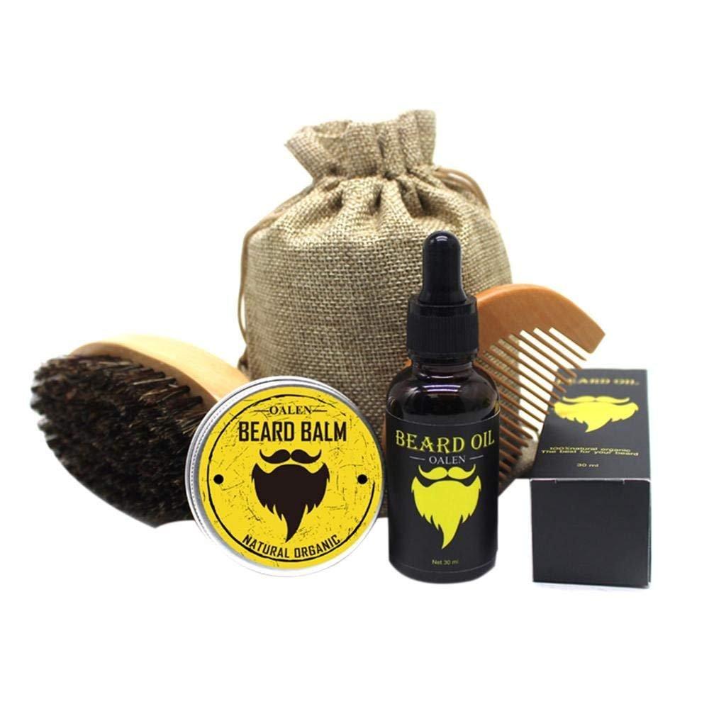 EEvER Wohnkultur Ideales Geschenk Bartpflege-Set fü r Herren, feuchtigkeitsspendende Bartcreme nach dem Rasieren von Pflege-Taillen-Wachs
