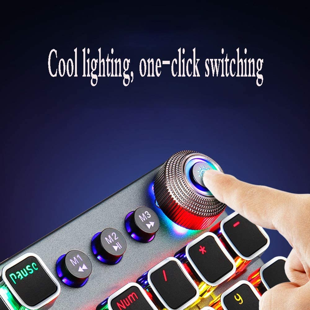 Color : E DR Game Mechanical Keyboard Desktop Laptop Wired Keyboard USB Interface//Cool Color Photoelectric Gaming Keyboard Computer Accessories