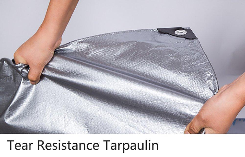 YY-ZP Addensare Grigio Tarpauline Heavy Duty Impermeabile Tovaglie Copertine Antipioggia Antipioggia Antipioggia Telo di Tela Tenda da Sole Tenda da Sole (Dimensioni   5x10m)   Cheapest    Costi medi  5c0fbd