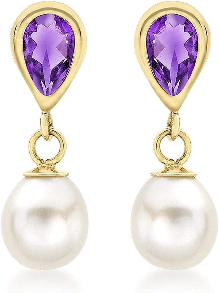 Carissima Gold Pendientes de mujer con oro 9 K (375) y gema