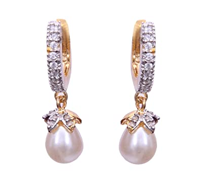 6b9453bf50b Sitashi Fashion Imitation jewellery AD and Created Pearl Ear Rings from  Girls and Women  Amazon.in  Jewellery