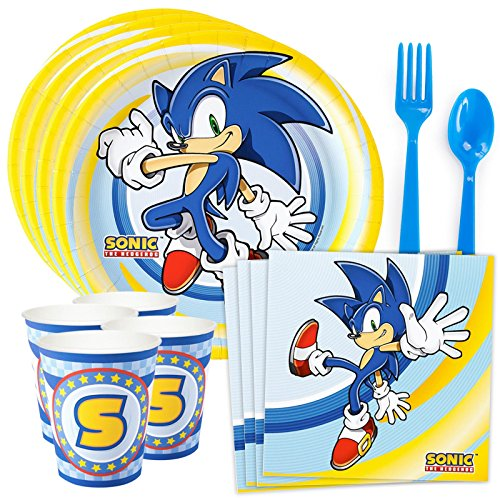 (Costume SuperCenter Sonic the Hedgehog Party Supplies (Serves)