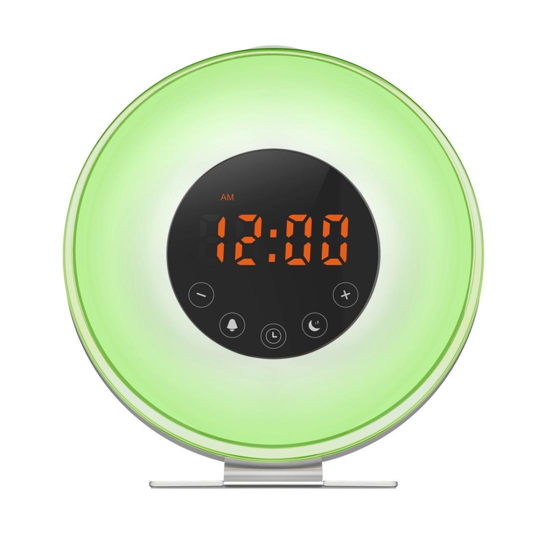 Alarm Clock Night Light Lamp, With Sunrise and Sunset Simulation, Wake Up Light , Help Sleep Light , FM Radio Function, USB Port RGB LED,Perfect Gift for Women Men Kids Bedside TianranRT