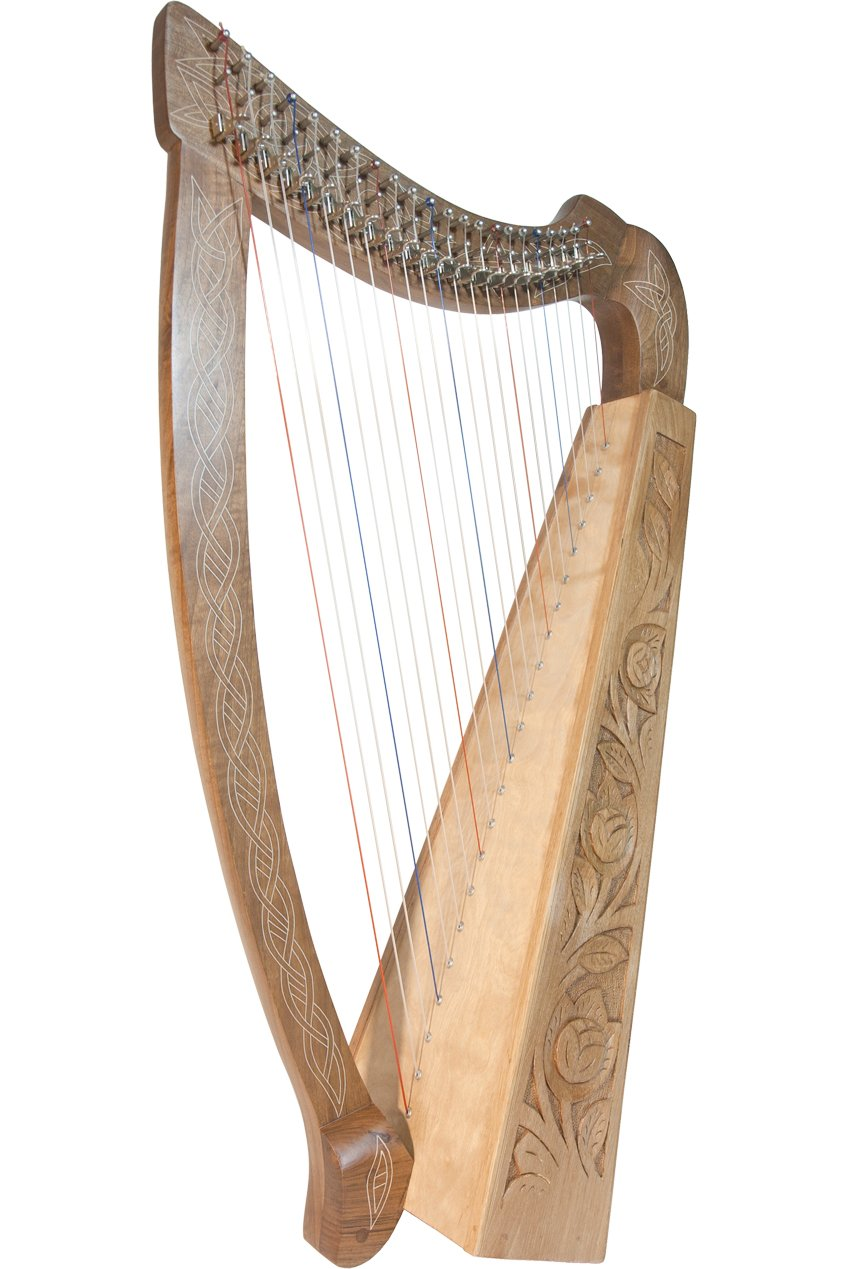 Roosebeck Celtic Heather Harp, 22-String - Walnut Wood