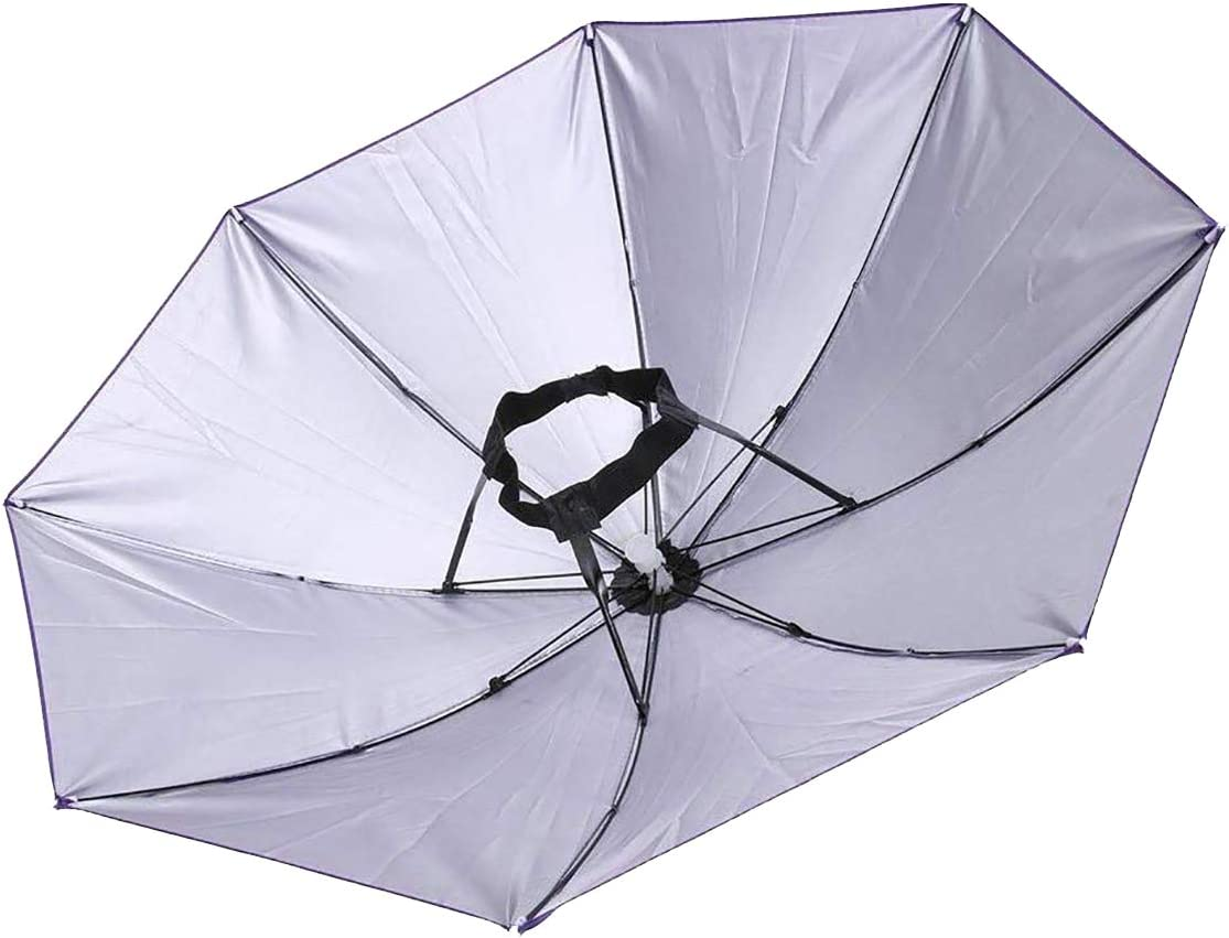 SUKRAGRAHA 25 inch OutDoor Working Rain HeadHeld Umbrella Headwear Sunshield Purple
