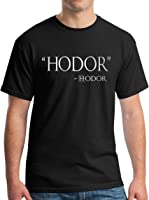 Adult Hodor Hodor Quote T-Shirt - Metallic Silver Print