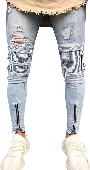 Pantalones De Mezclilla Para Hombre Pantalones De Mezclilla Moda Para Hombre Pantalones De Mezclilla Pitillo Para Hombre Pantalones De Mezclilla Para Hombre Amazon Es Ropa Y Accesorios