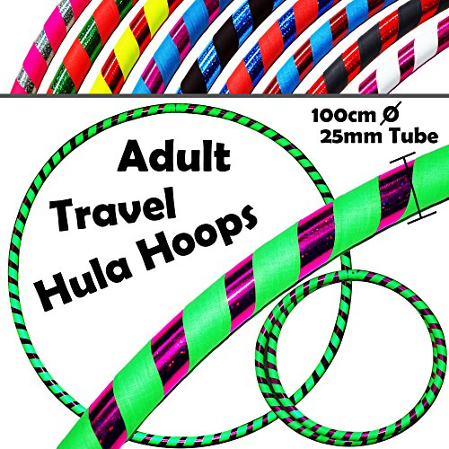 PRO Hula Hoops (Ultra-Grip/Glitter Deco) Weighted TRAVEL ...