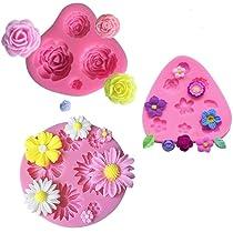 ... mciskin Moldes de fondant de pastel de flores,mini Moldes de Silicona de Flores, ...