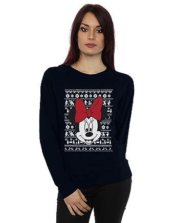 6929cc6ee Disney mujer Mickey Mouse Christmas Head Camisa de entrenamiento   Amazon.es  Ropa y accesorios