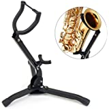 Folding Saxophone Tripod Stand Holder Sax Alto Tenor Portable Musical Instrument