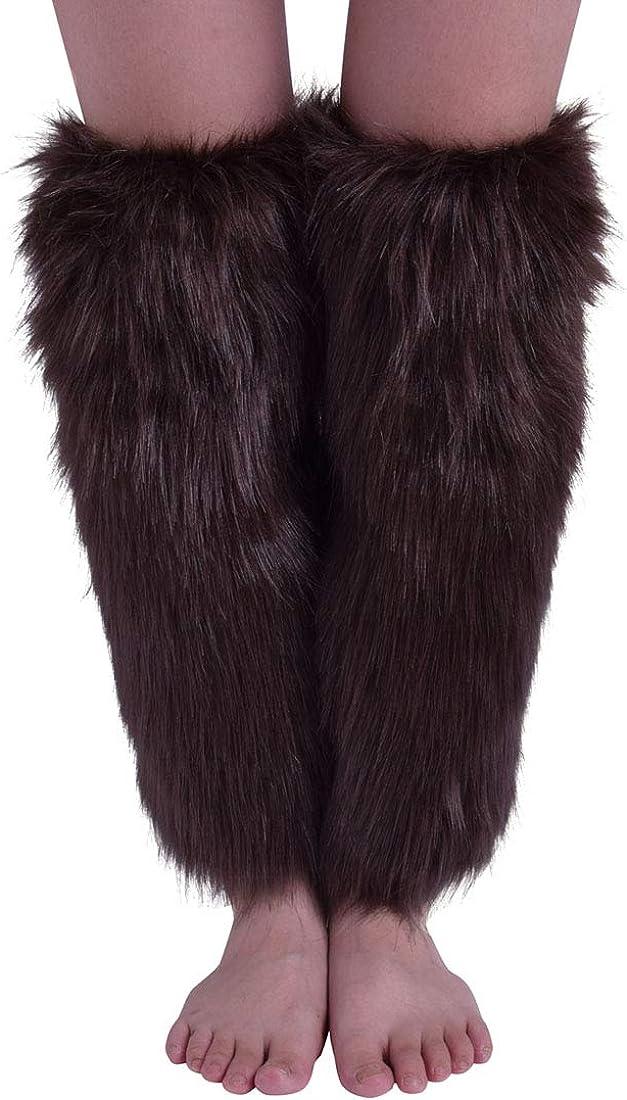 Nanxson Scaldamuscoli in pelliccia da Donna Peloso Scaldamuscoli Copri polsini per stivali TTW0034