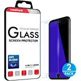 """CaseBank iPhone 7 6S 6 Screen Protector Tempered Glass, Blue Light Blocking, 9H Hardness, 3D Touch Compatible, Glass Screen Protector for Apple i Phone 7 6S 6 4.7"""" (2-Pack)"""