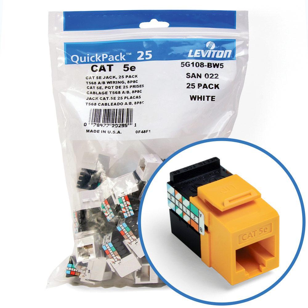 leviton 5g108 rw5 gigamax 5e quickport connector cat 5e. Black Bedroom Furniture Sets. Home Design Ideas
