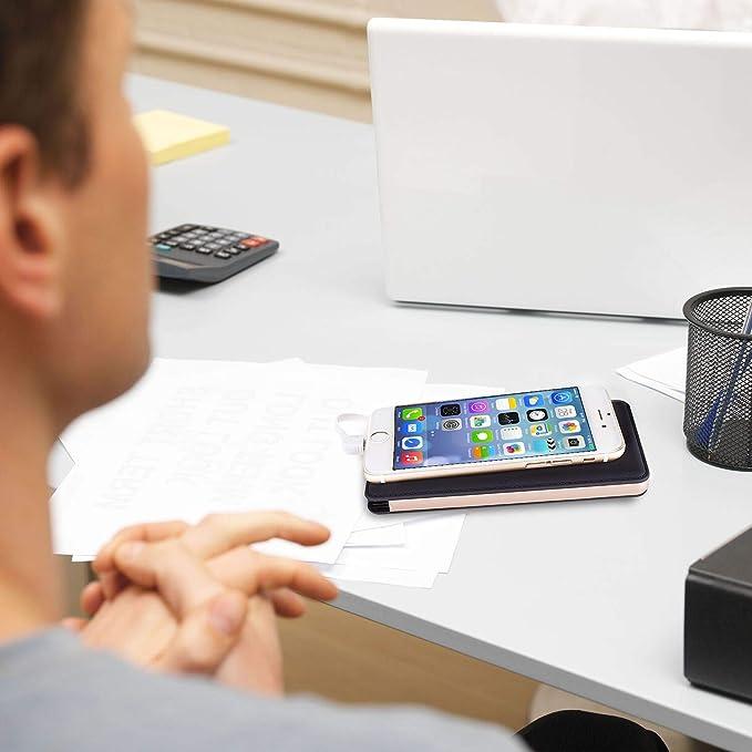 LarKoo - Cargador inalámbrico portátil de 20000 mAh, Cargador 3 en 1 con Puerto USB Tipo C, baterías externas para Dispositivos con Qi habilitado iPhone X 8 ...