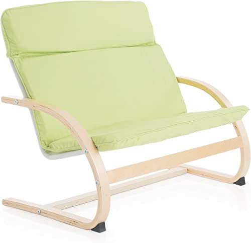 Guidecraft Kiddie Rocker, Light Green Couch - Kids Furniture