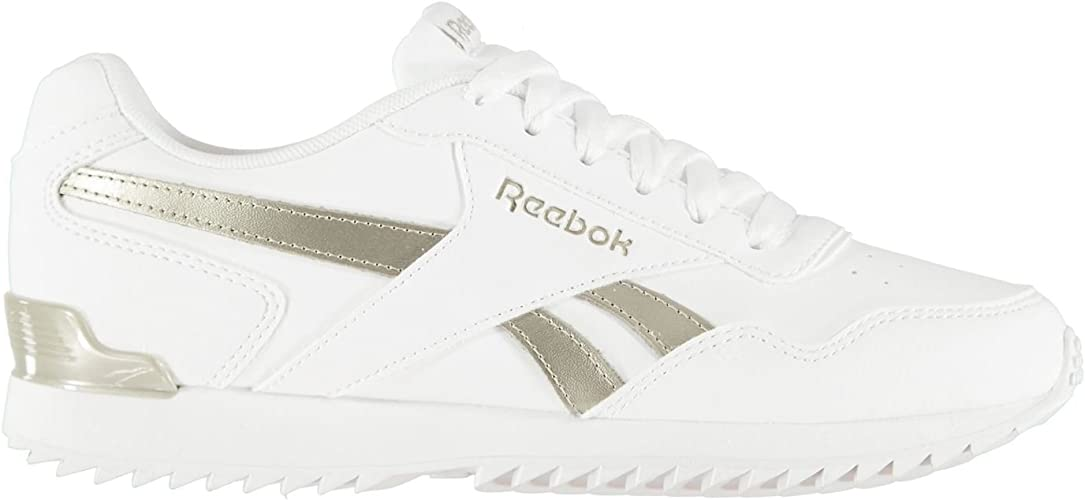 Reebok Damen Royal Glide Ripple Clip Leder Turnschuhe Sneaker Sportschuhe