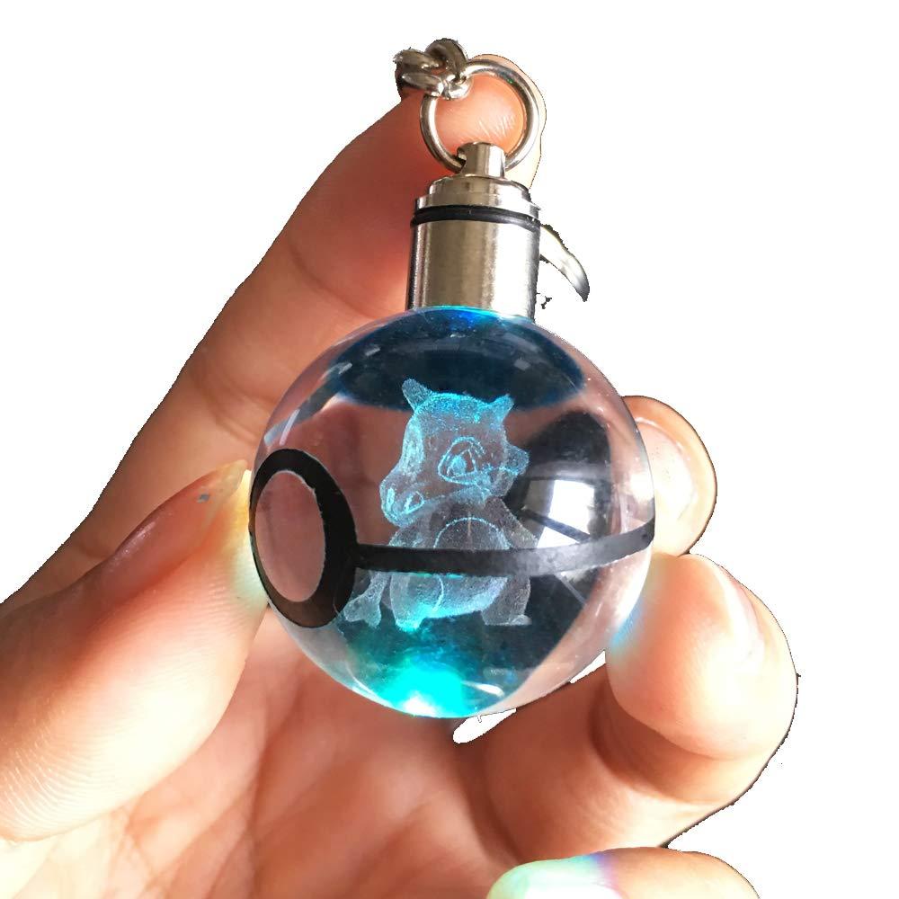 Amazon.com: S-SO - Llavero con bola de cristal en 3D con ...