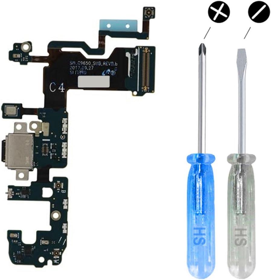 MMOBIEL Conector Dock de Carga Reemplazo Compatible con Samsung Galaxy S9 Plus G965F Conex Micrófono Altavoz Incl. Htas.